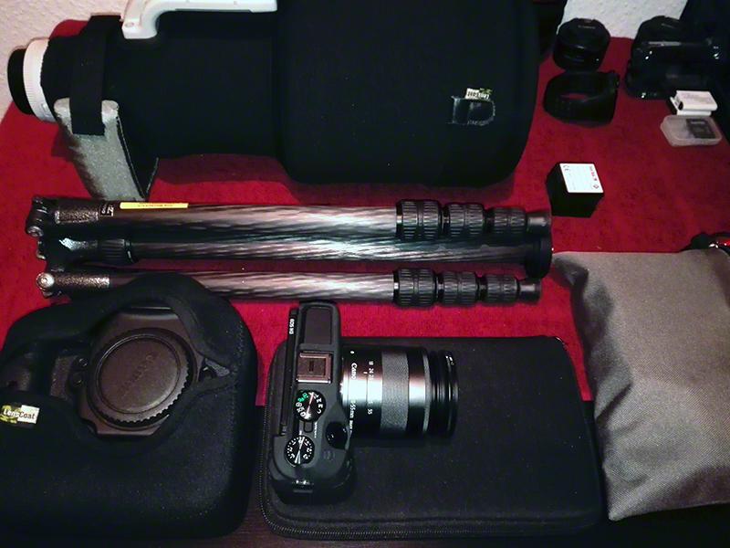 Die Kameraausrüstung