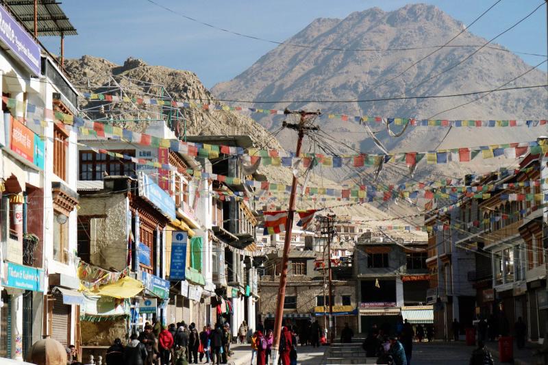 Provinzhauptstadt Leh im indischen Bundesstaat Jammu&Kaschmir