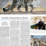 Artikel in der Siegener-Zeitung über die mehrmonatige Schneeleoparden-Tour des Naturfotografen Jörg Manderbach - Press article about sucessfull snow leopard tour at the Himalayas by German nature photographer Joerg Manderbach